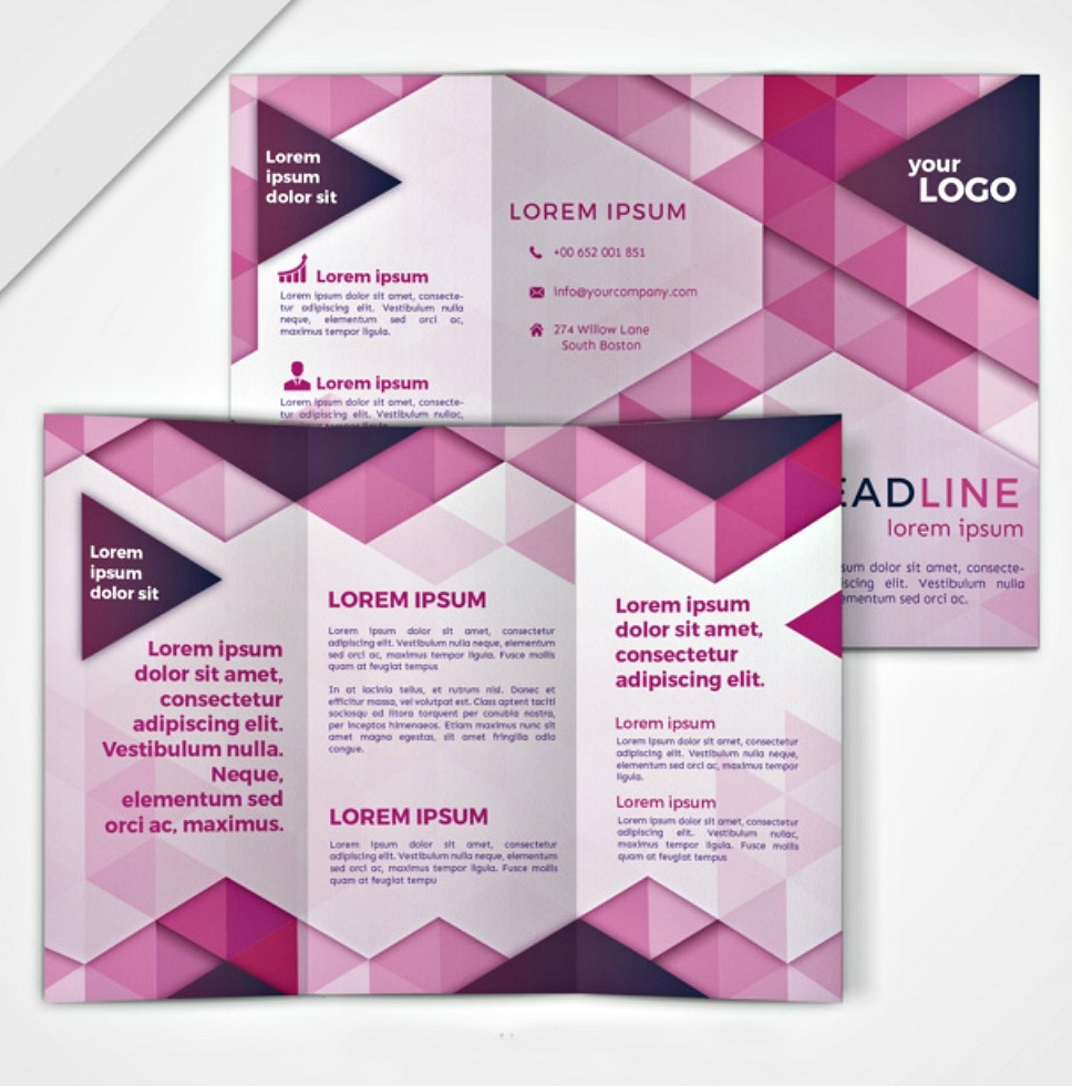 geometric brochure design1