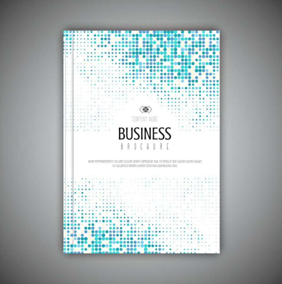 halftone business brochure template