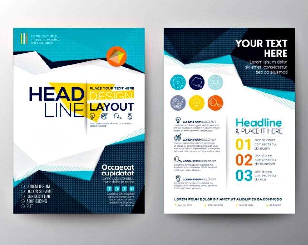 headline design layout brochure template