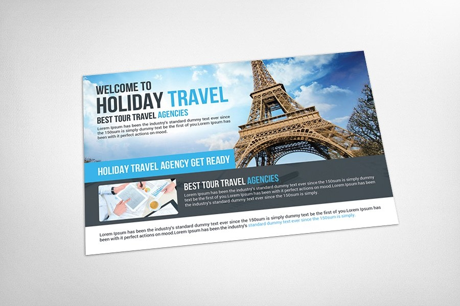 holiday travel postcard