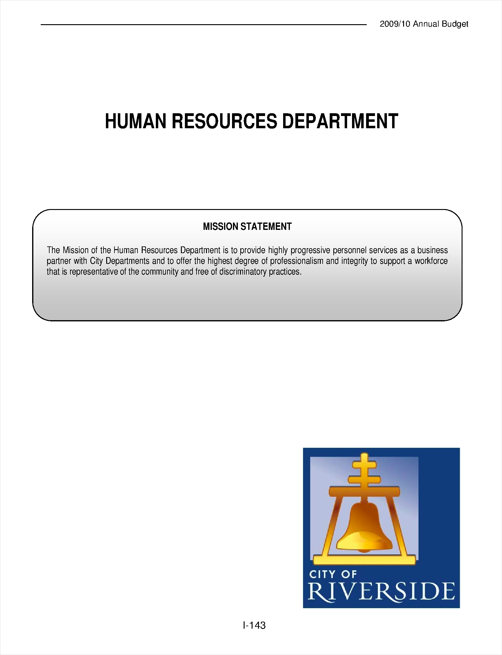 Human Resource Annual Budget  Human Resource Examples