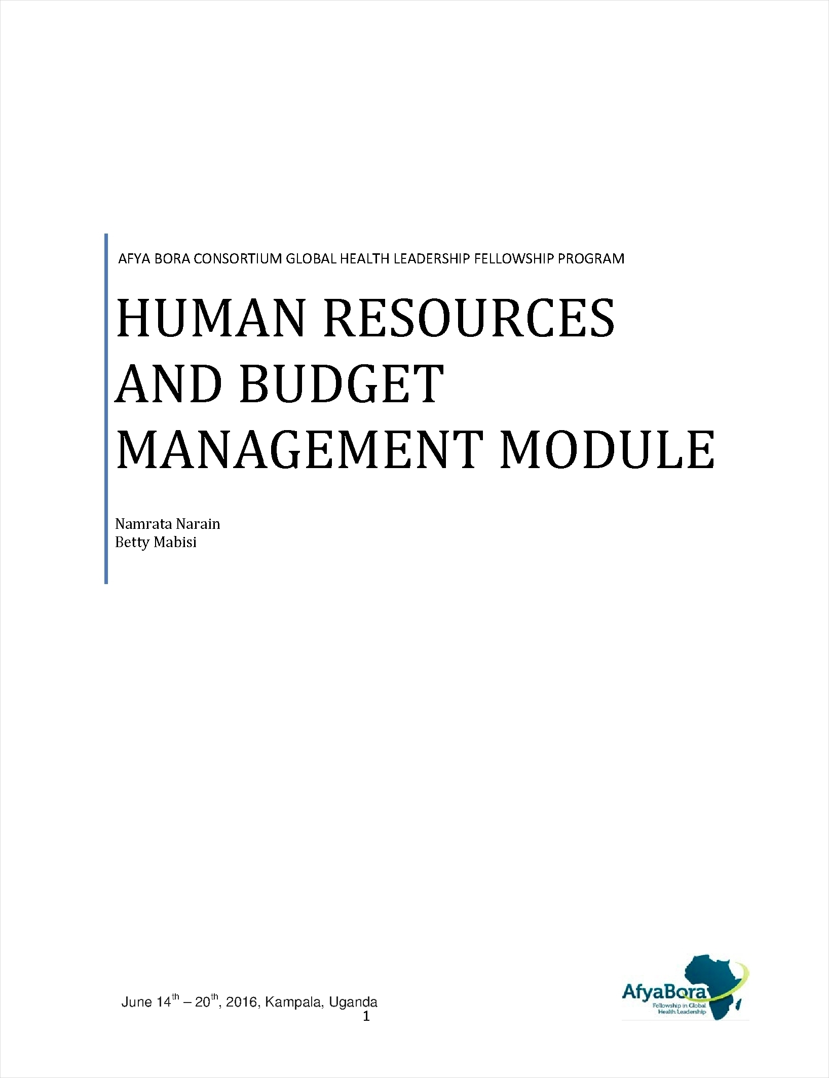 Human Resources And Budget Management  Human Resource Examples