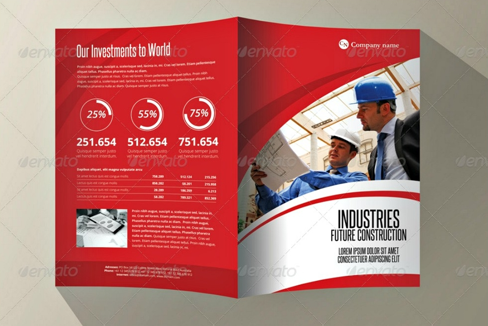 industries bifold a4 brochure