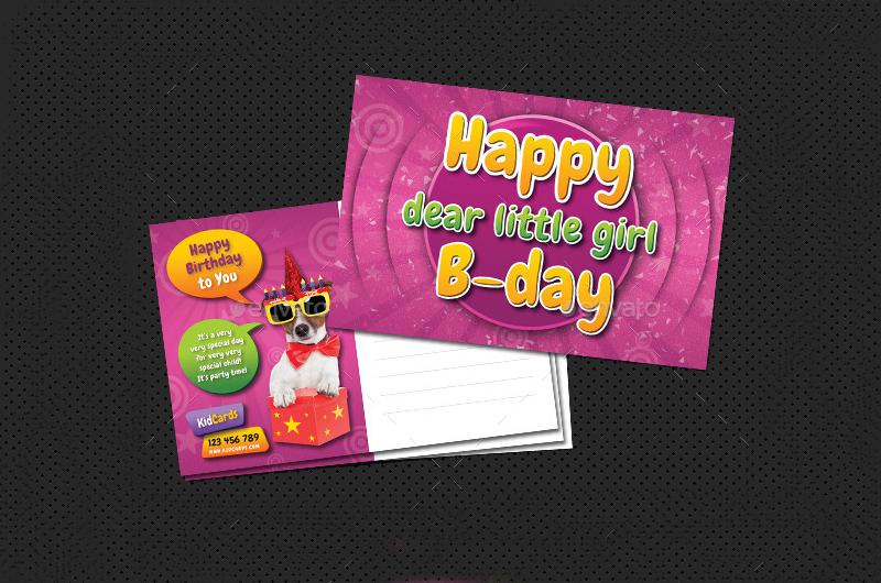 Kids-Birthday-Postcard