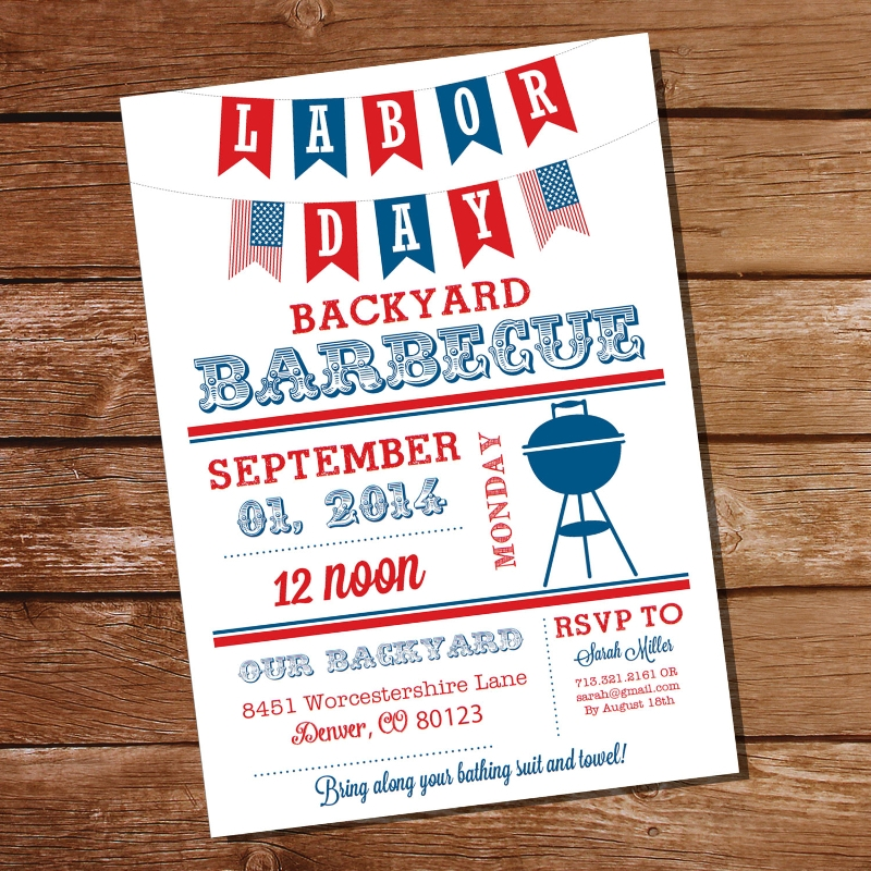 labor day cookout invitation