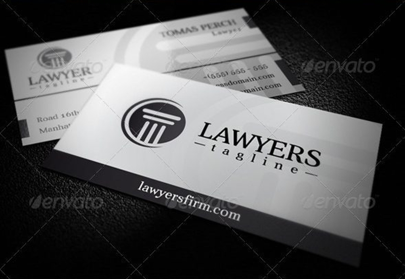 law firm business card logo