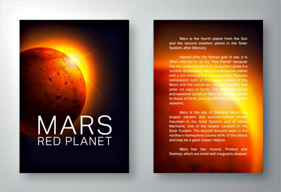 mars brochure template