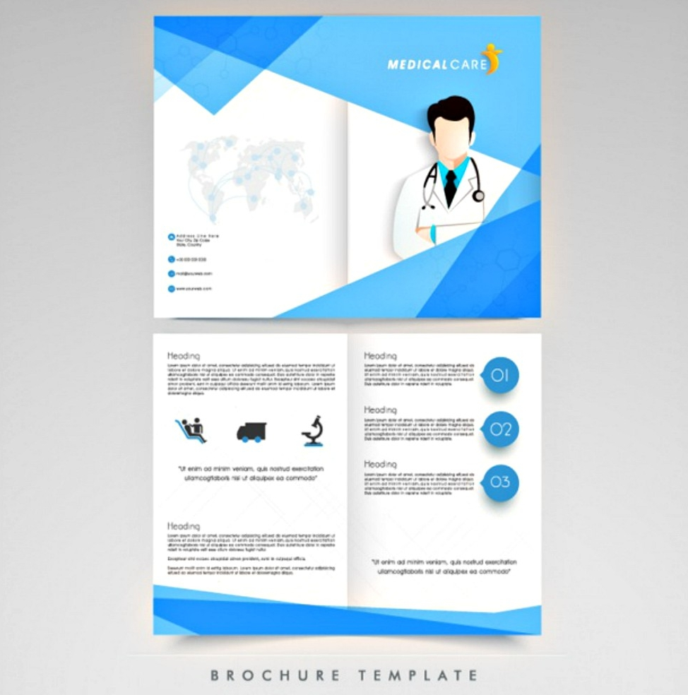 medical care brochure template