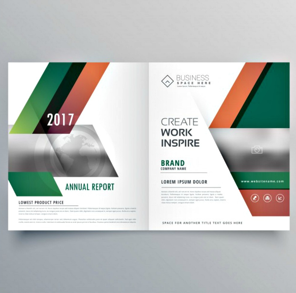 modern bi fold business brochure design