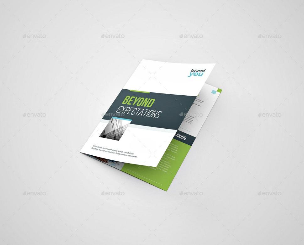 modern bifold company brochure