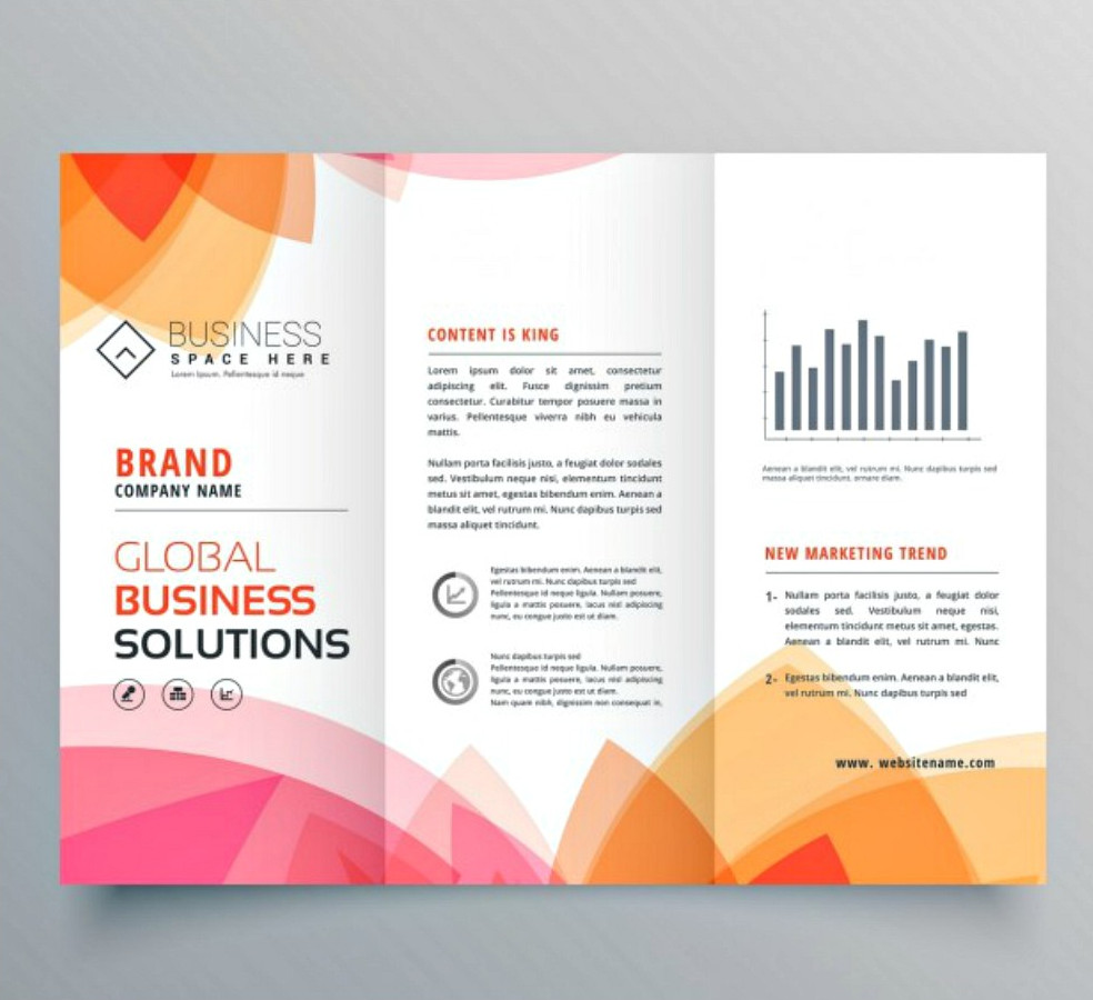 Modern Brochure with Warm Colors