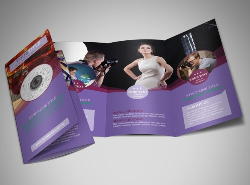 modern photography brochure design