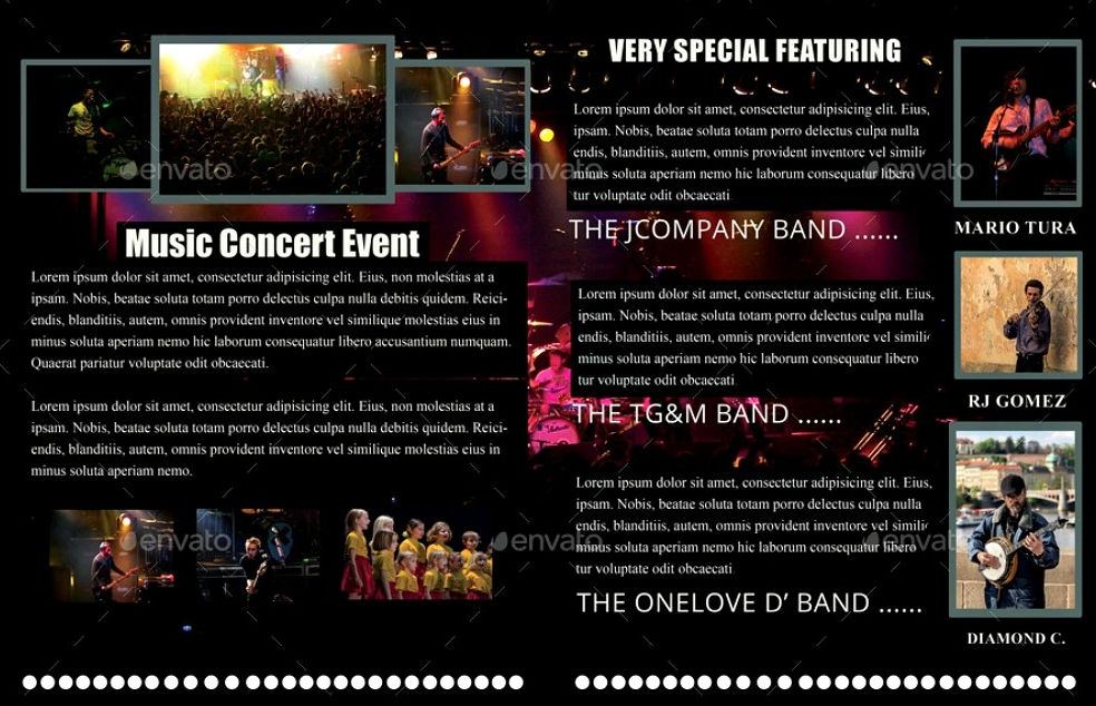 music concert event brochures