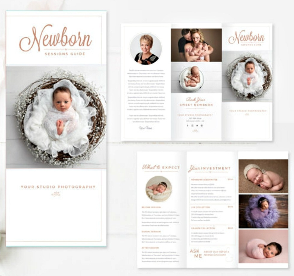 new born indesign brochure