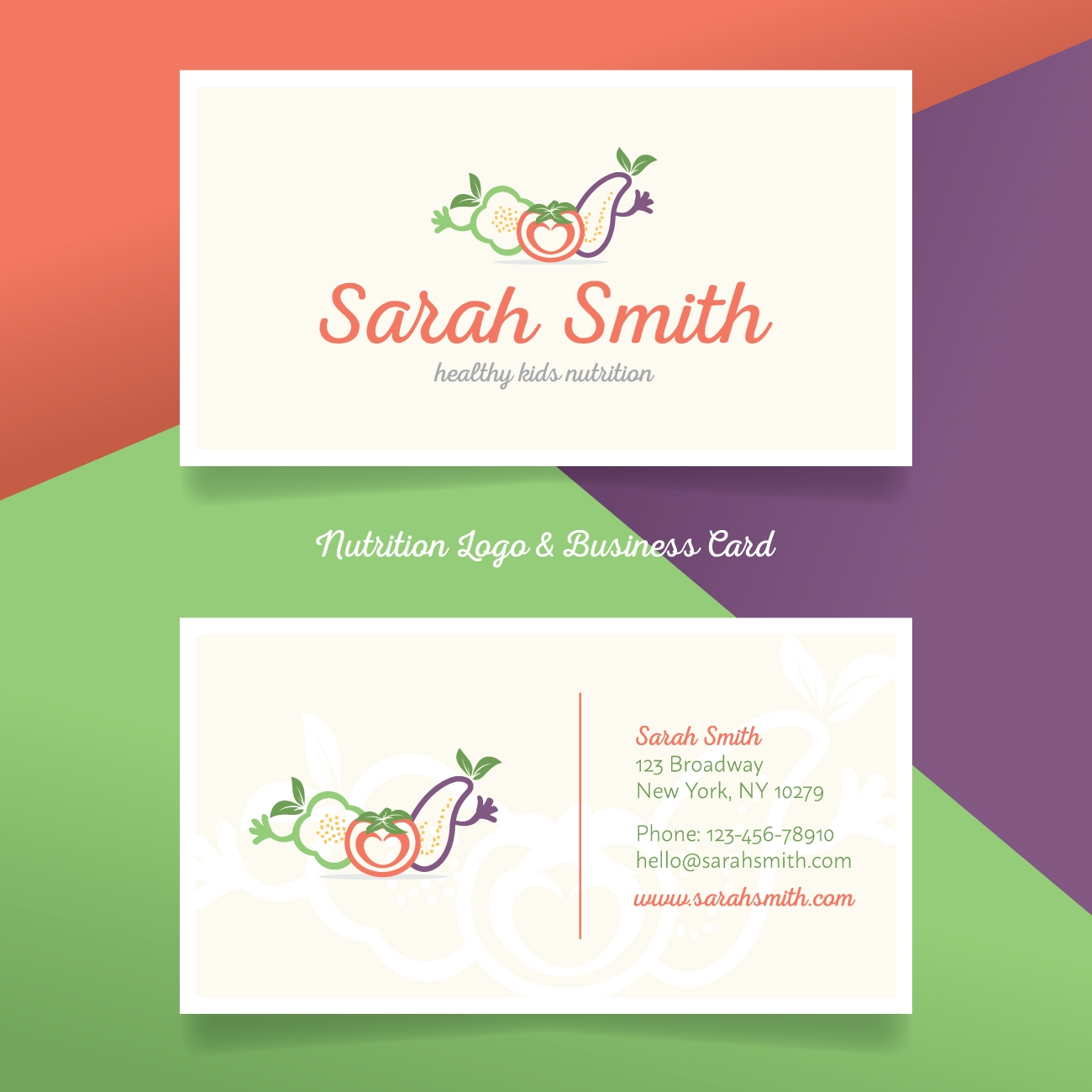 Nutrition Business Card Logo