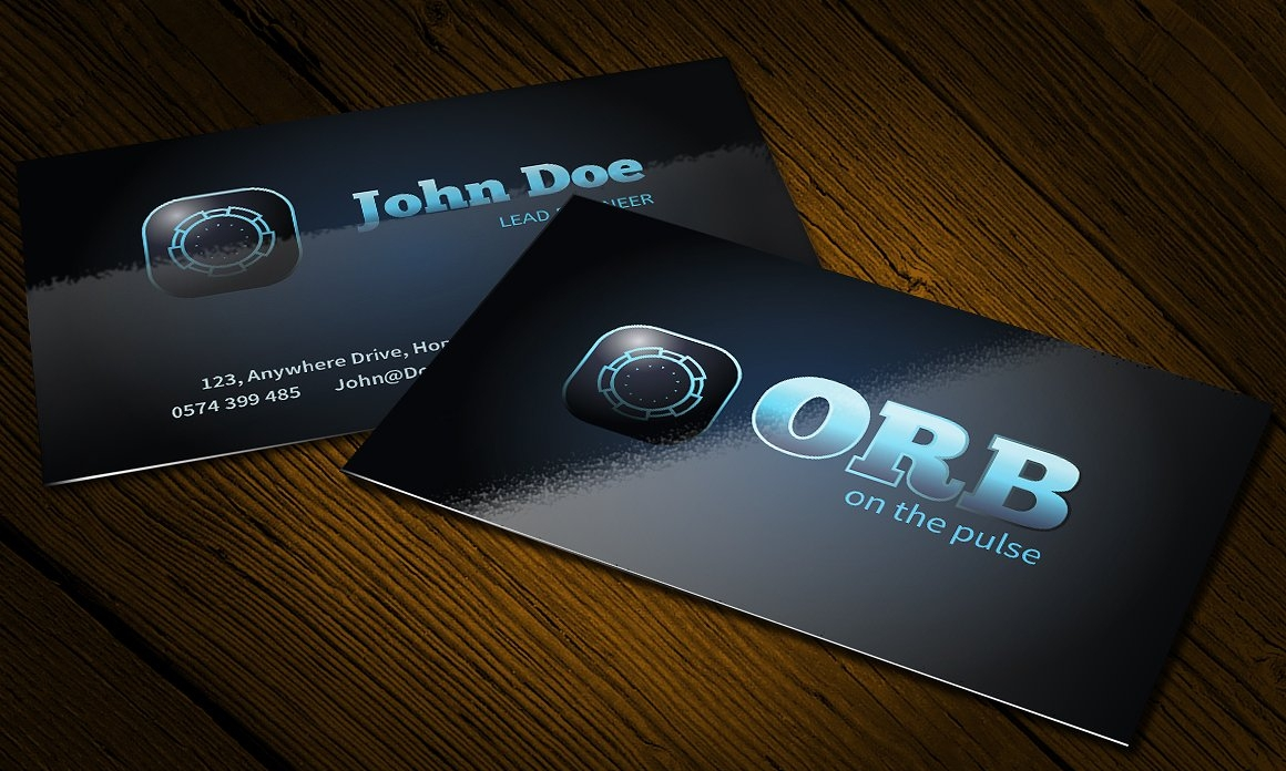 orb business card logo design