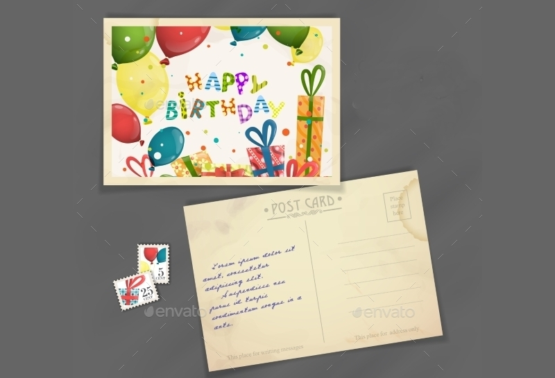 Old Birthday Postcard