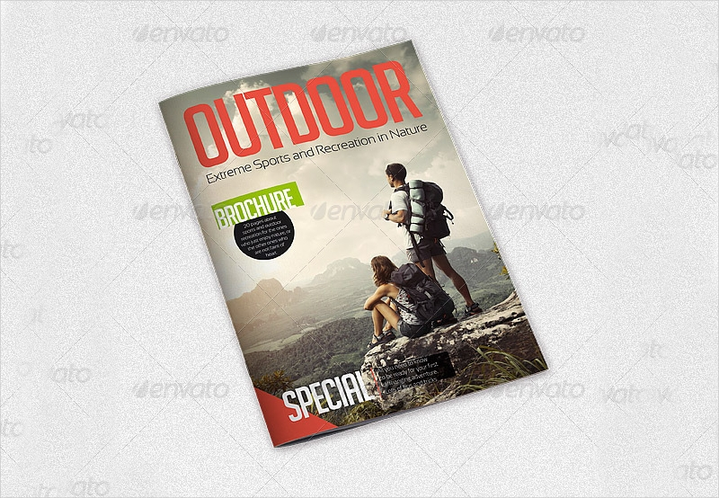outdoor recreation a4 brochure