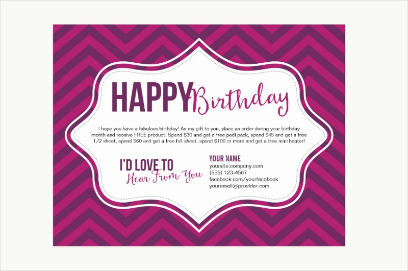 Pink-Birthday-Postcard