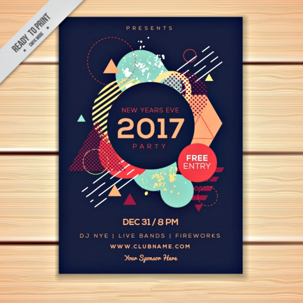 polygonal abstract brochure