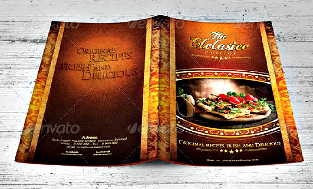 restaurant menu brochure 5