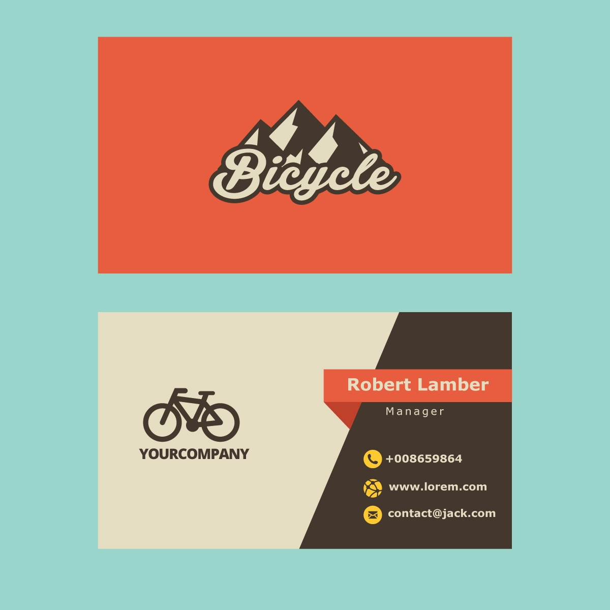 Retro Business Card Logo
