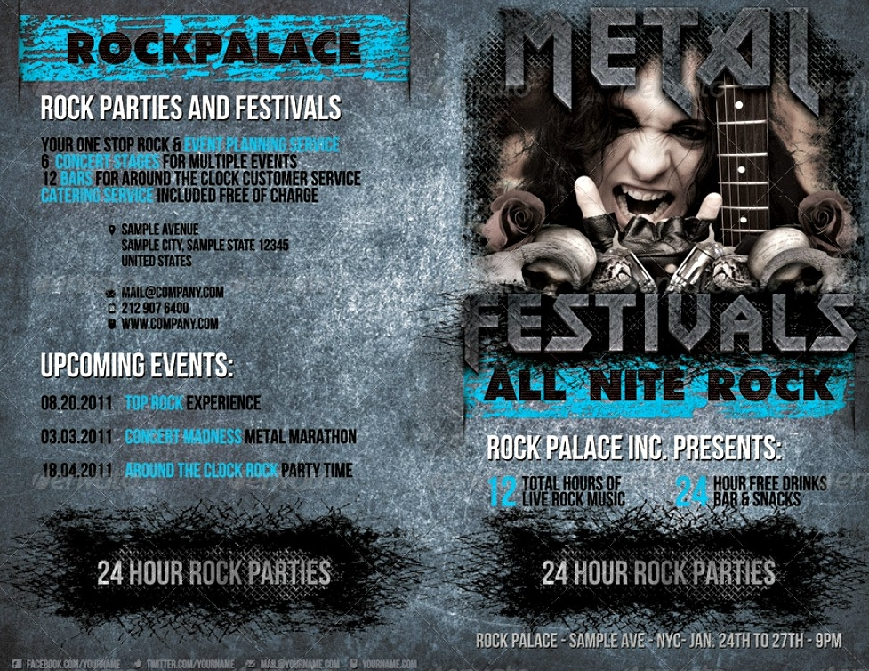 rock event brochure