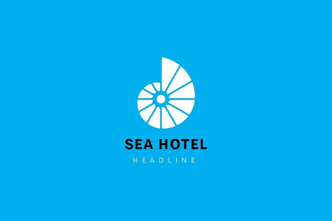 sea hotel logo design