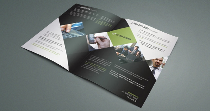 simple corporate bifold brochure
