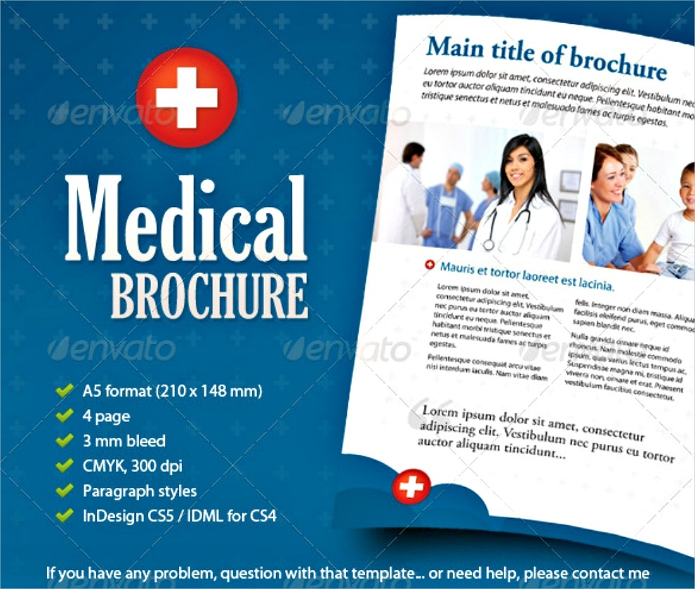 30 best brochure examples psd indesign format for Medical office brochure templates