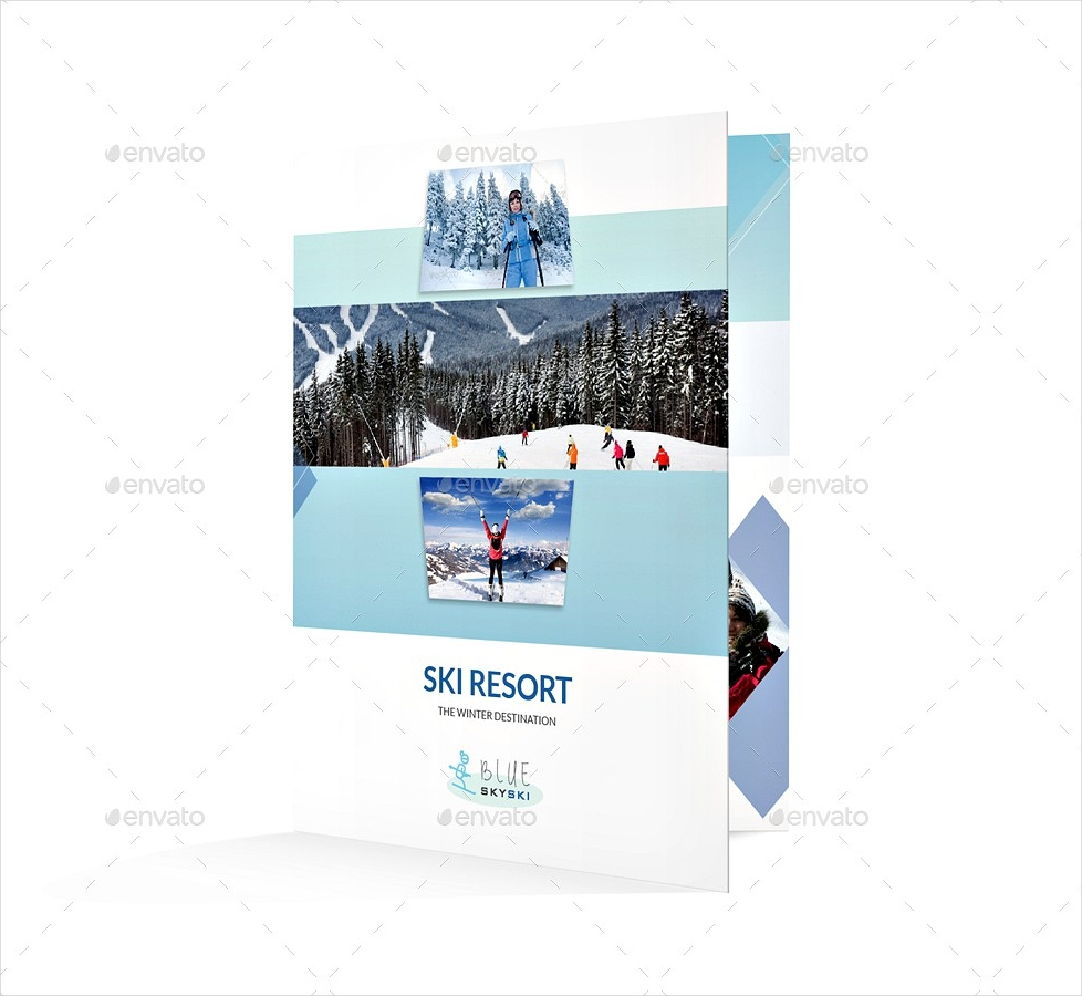 ski resort bi fold brochure