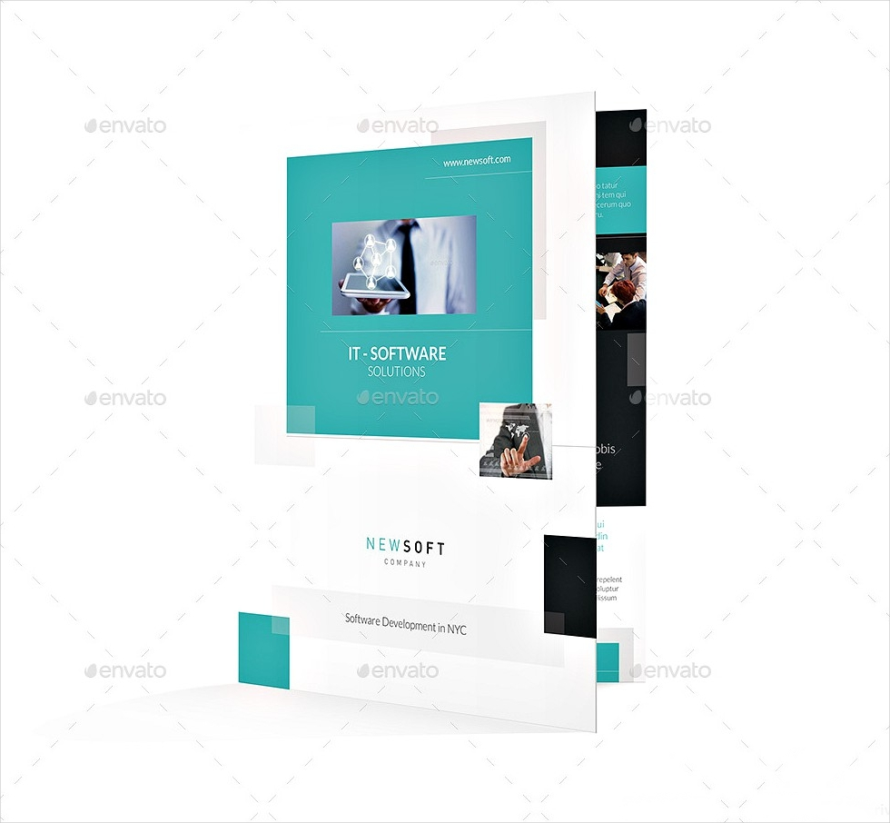 software company bi fold brochure