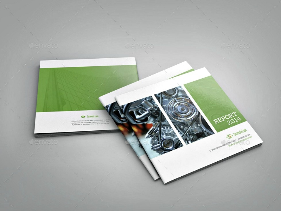square indesign brochure