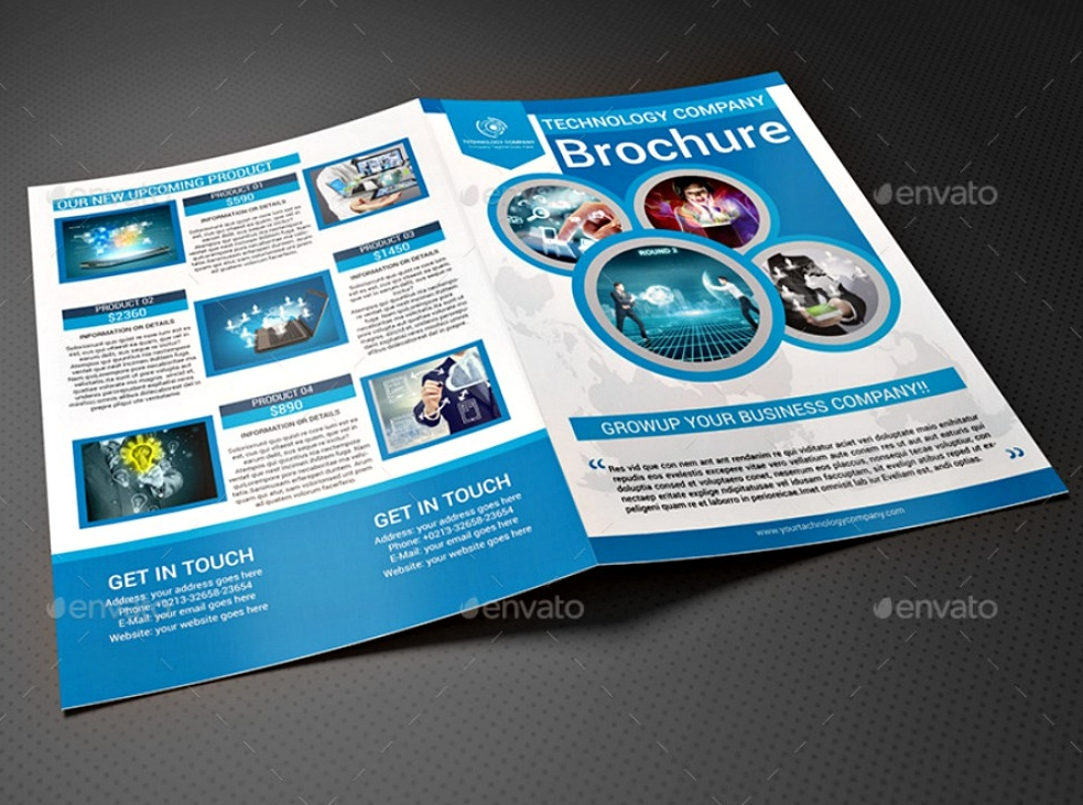 technology company bi fold brochure