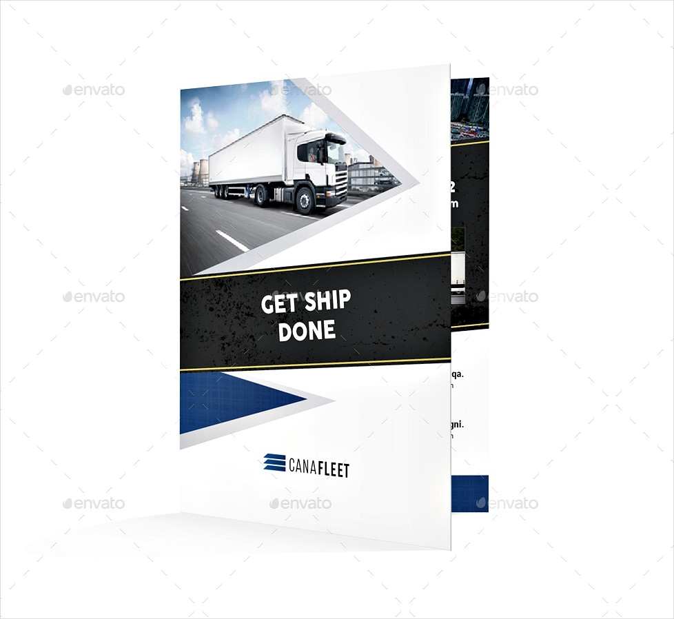 transportation company bi fold brochure