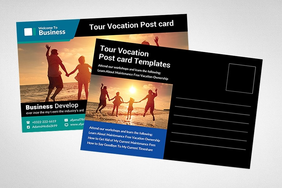 travel business postcard