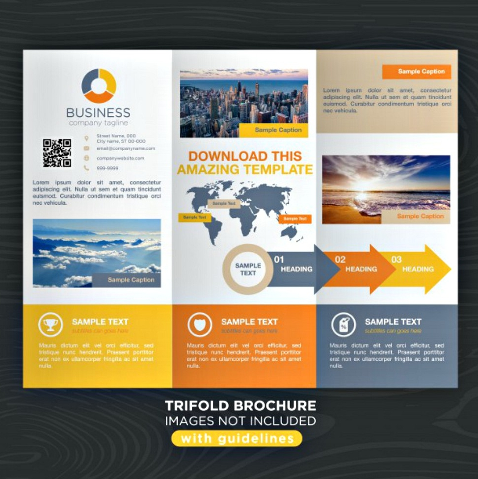 travel business tri fold brochure template
