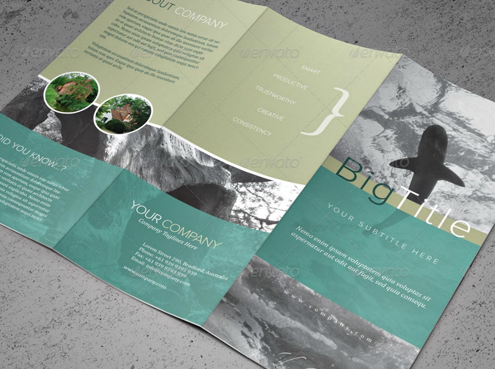 20 brochure examples in psd for Pamphlet photoshop template