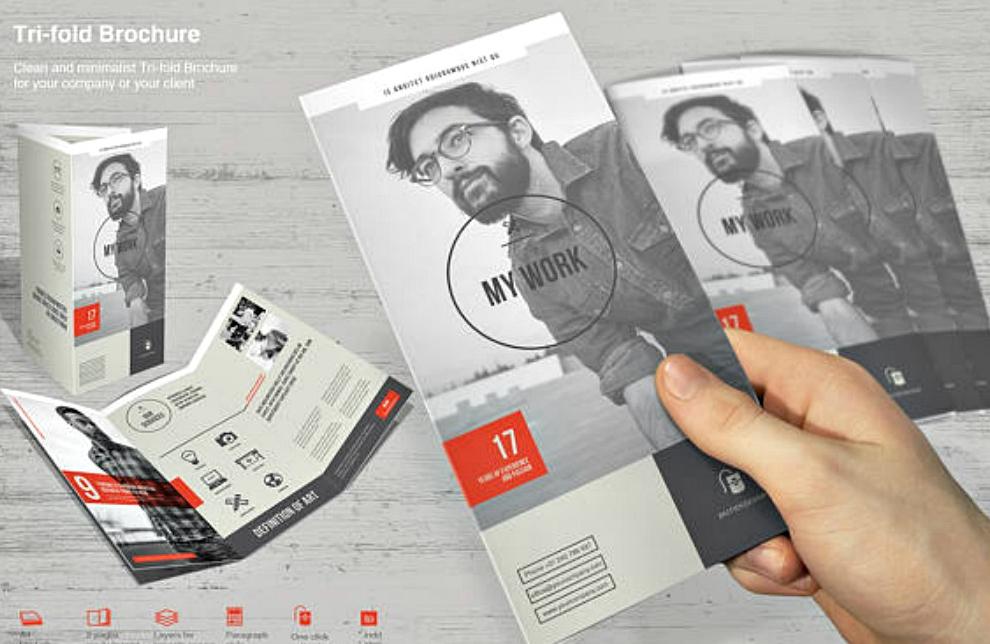 tri fold brochure print template