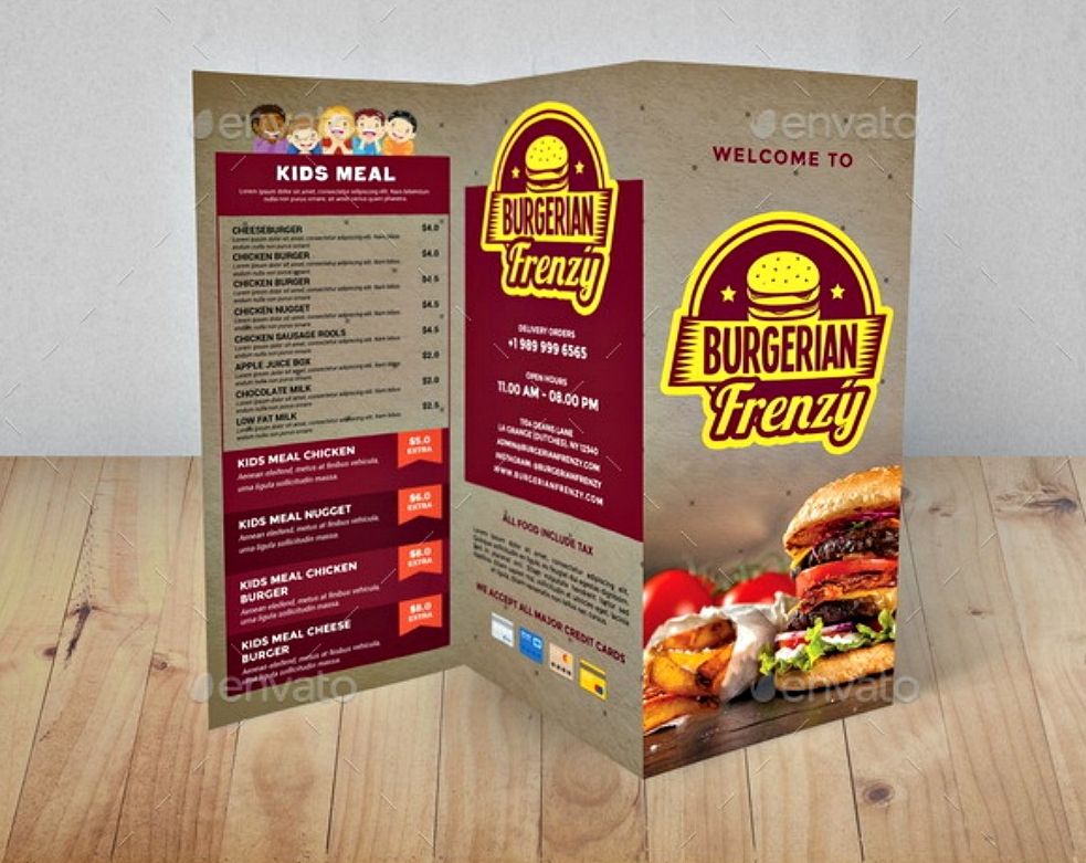 Examples And Techniques For Designing Food Brochures