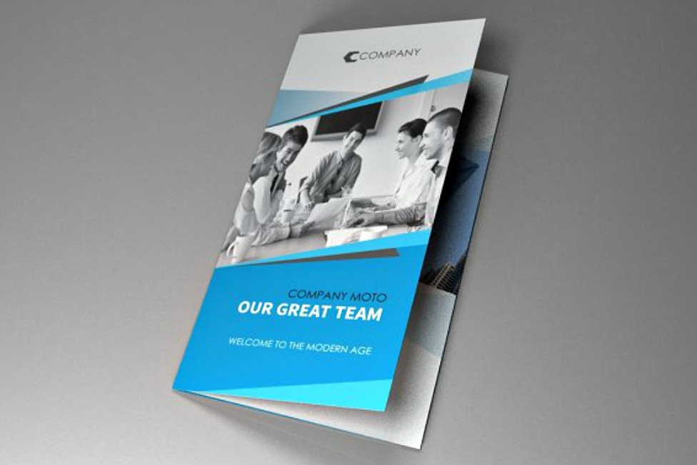 trifold indesign brochure