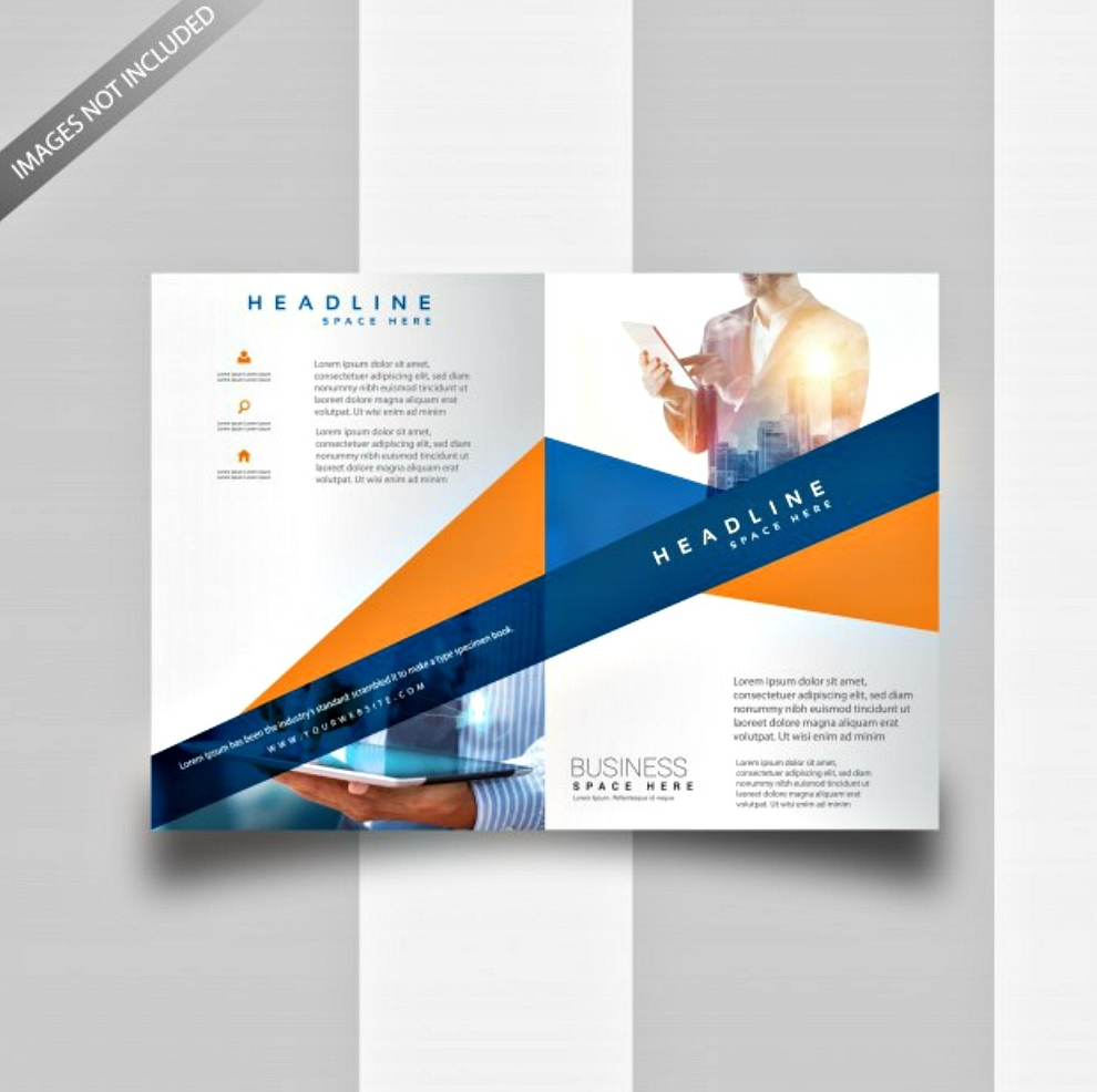 two color bi fold template