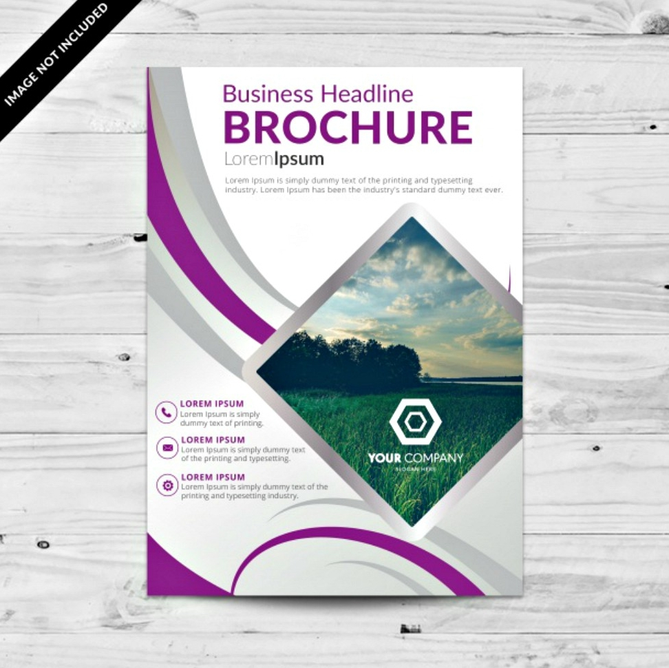 violet brochure template design