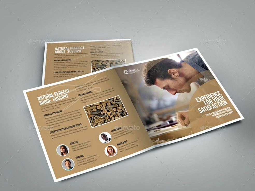 wood concept indesign brochure