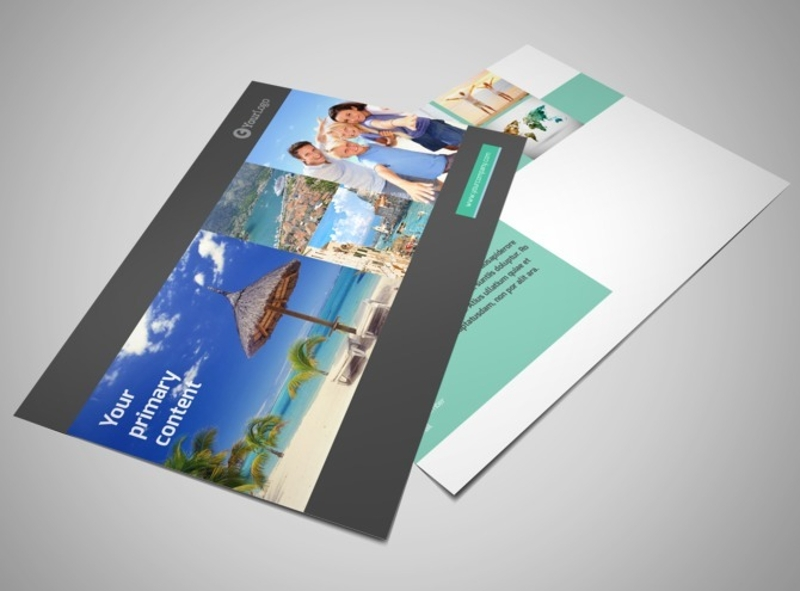 world travel agent postcard