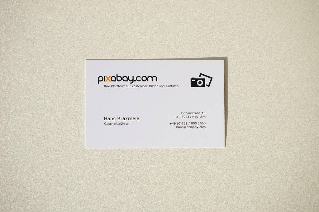 business card 318427