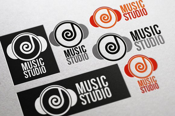 music studio logo beats