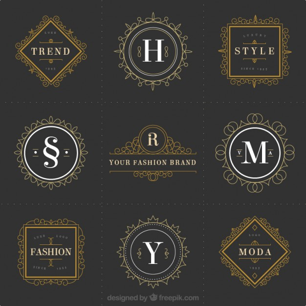 ornamental fashion logos