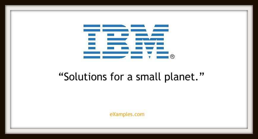 "IBM: ""Solutions for a small planet"""