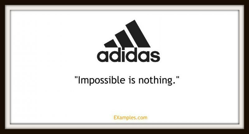 "Adidas: ""Impossible is nothing"""